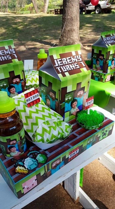 We make birthday party decor for popular themes such as Minecraft, Doc Mcstuffins, Ferrari and more.