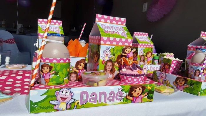Our custom made Dora the Explorer party supplies include personalised invitations, paper cups and plates, blowouts and more.