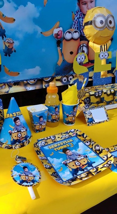 Kiddies Theme Parties not only make personalised Minions party supplies, we can also do the entire party setup for you.