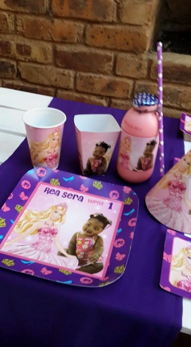 Our custom made party supplies include personalised invitations, paper cups and plates, blowouts and more.