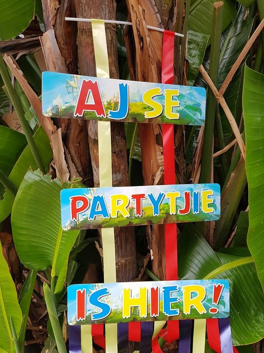 We make birthday party decor for popular themes such as Angry Birds, Doc Mcstuffins, Ferrari and more.