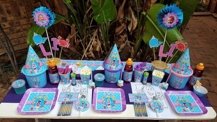 Personalized Bubble Guppies party supplies and Bubble Guppies birthday decor for sale.
