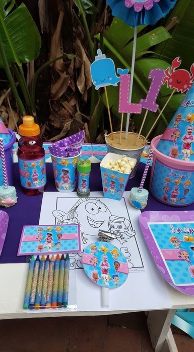 We make birthday party decor for popular themes such as Bubble Guppies, Doc Mcstuffins, Ferrari and more.