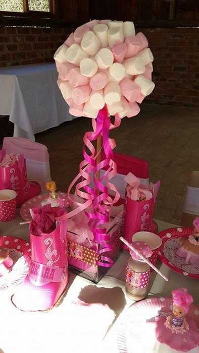 Kiddies Theme Parties hire out gazebos, picnic tables, umbrellas and photo boards for your Barbie Horses party.