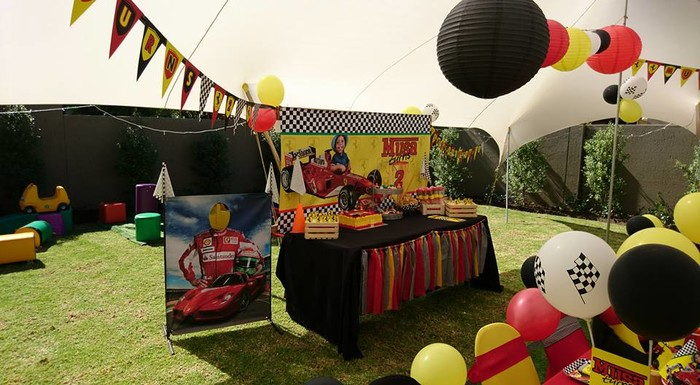 Kiddies Theme Parties offers complete Ferrari party packages so you don't have to worry about a thing
