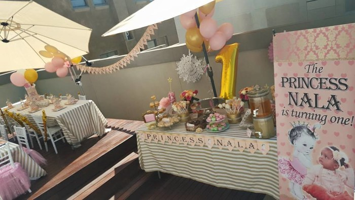Kiddies Theme Parties not only make personalised Princess party supplies, we can also do the entire party setup for you.