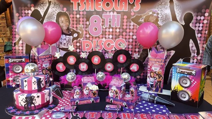 Kiddies Theme Parties offers personalized Disco party supplies and decor for sale.