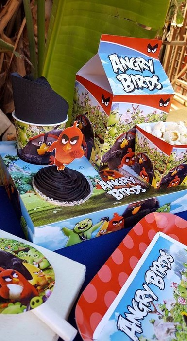 Personalized Angry Birds party supplies and Angry Birds birthday decor for sale.