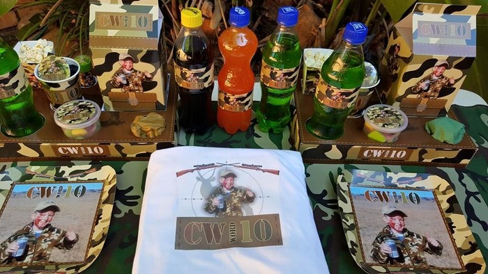 Personalized Hunting party supplies and Hunting birthday decor for sale.
