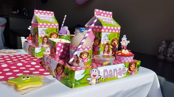 Kiddies Theme Parties hire out gazebos, picnic tables, umbrellas and photo boards for your Dora the Explorer party.