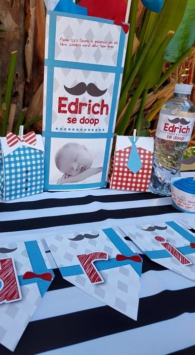 We make Little Man party supplies for boys and girls and deliver.