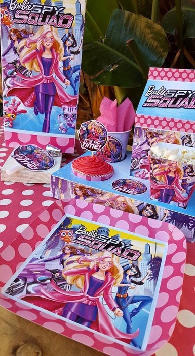 Personalized Barbie Spy Squad party supplies and Barbie Spy Squad birthday decor for sale.