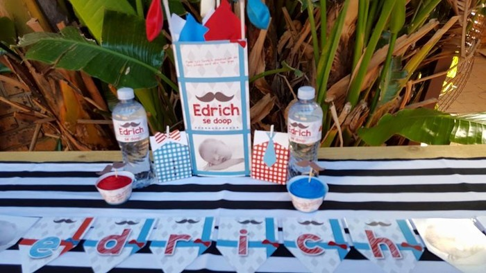 Kiddies Theme Parties offers personalized Little Man party supplies and decor for sale.