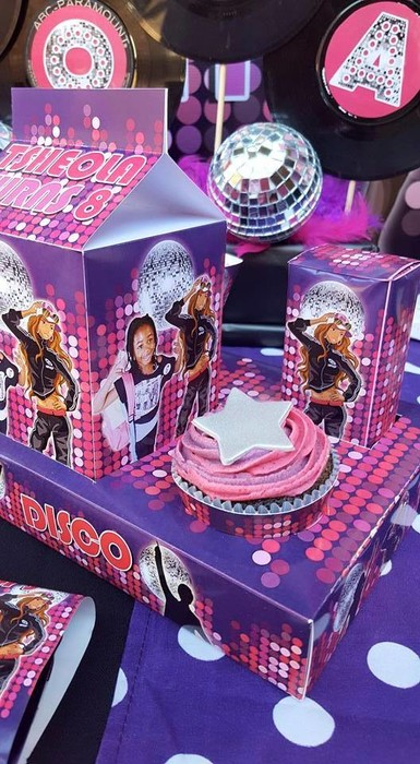 Our custom made Disco party supplies include personalised invitations, paper cups and plates, blowouts and more.