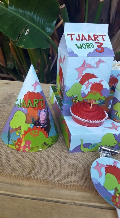 Kiddies Theme Parties hire out gazebos, picnic tables, umbrellas and photo boards for your Dinosaurs party.