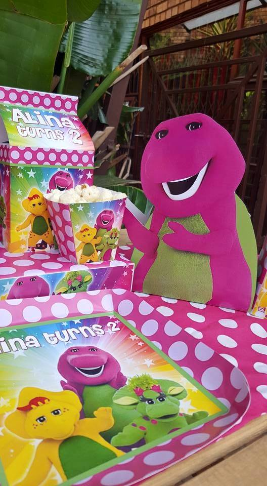 Barney themed party supplies