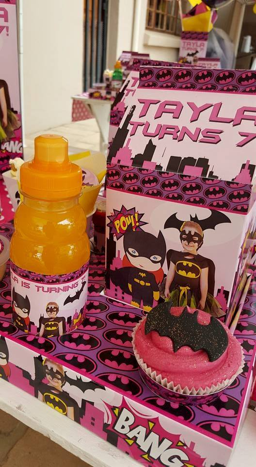 Batgirl themed party supplies