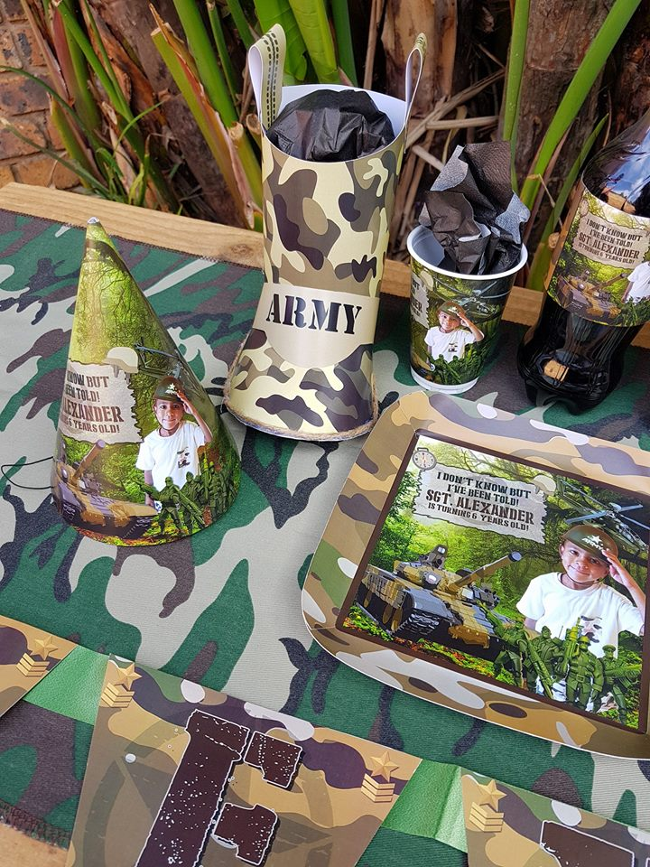 Camo Soldier Party Supplies