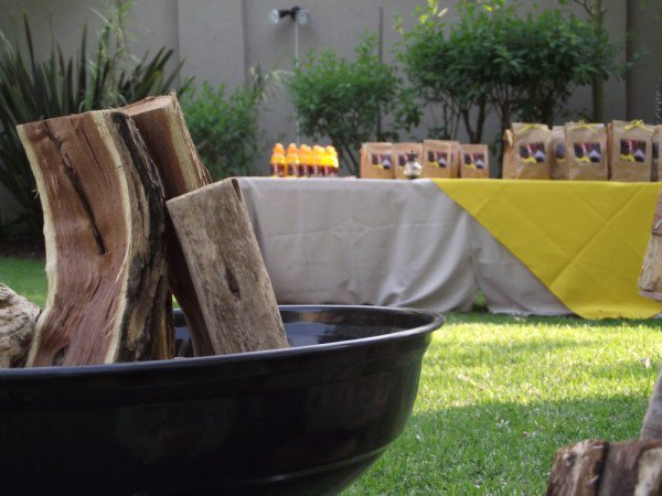 PersonalizedCamping party decor from Kiddies Theme Parties