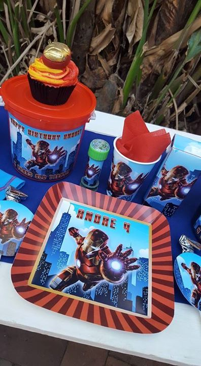 Ironman Party Supplies for Andre's 4th birthday
