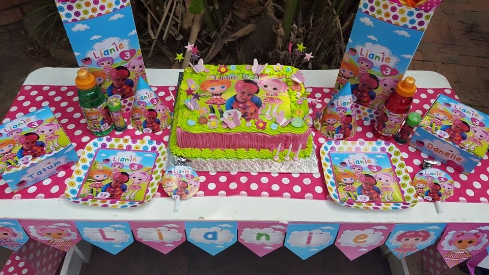 Lalaloopsy Party Supplies for Lianie's 3rd Birthday