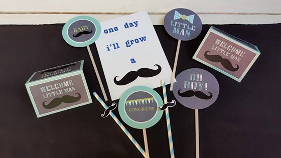 Little Man Mustache baby shower decor