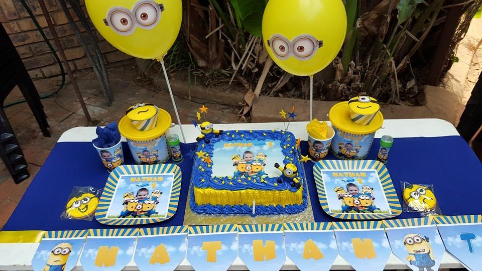 Personalized Minions Party Supplies made on order