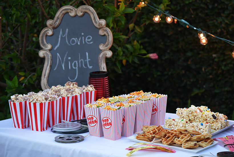Movie Night Cake Decorations