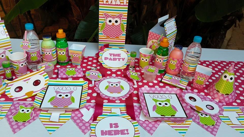 Owl Decorations 1st Birthday Party Image Inspiration of Cake and