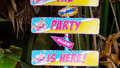 Party Is Here Signs