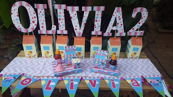 Peppa Pig themed party supplies