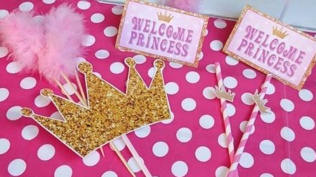 Princess Baby Shower Decor