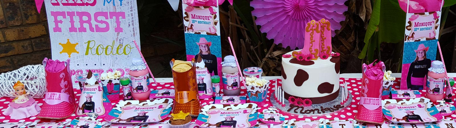 We are a Gauteng based events and party planning company specialising in custom made party supplies