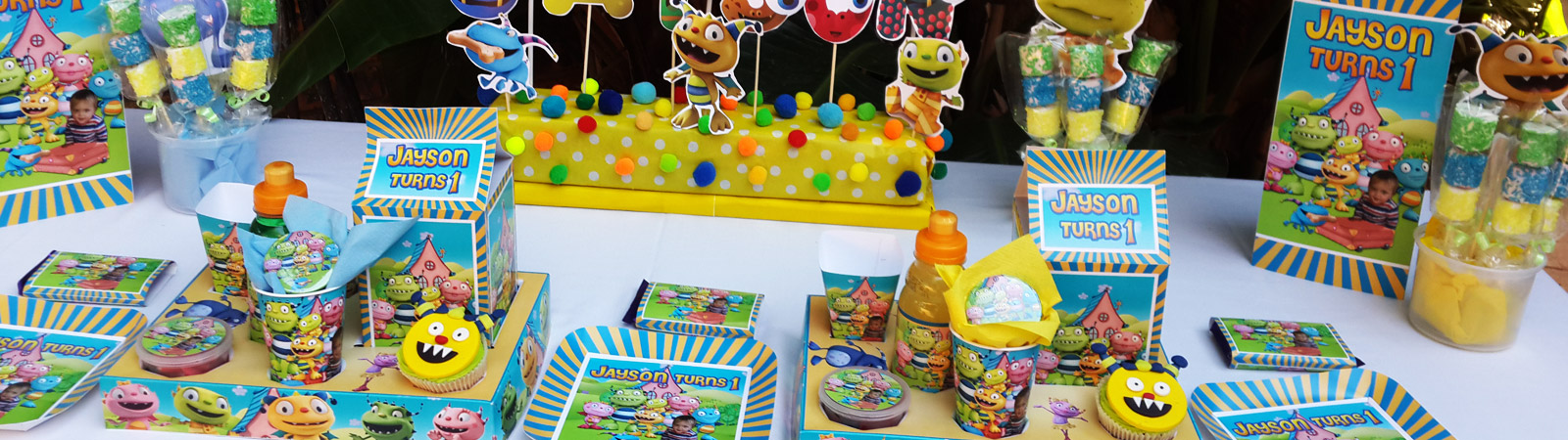 Kiddies Theme Parties not only makes personalised party decor, we can also do the entire party setup for you.