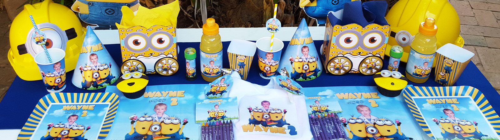 We make party supplies for popular themes such as Frozen, Doc Mcstuffins, Ferrari and more.