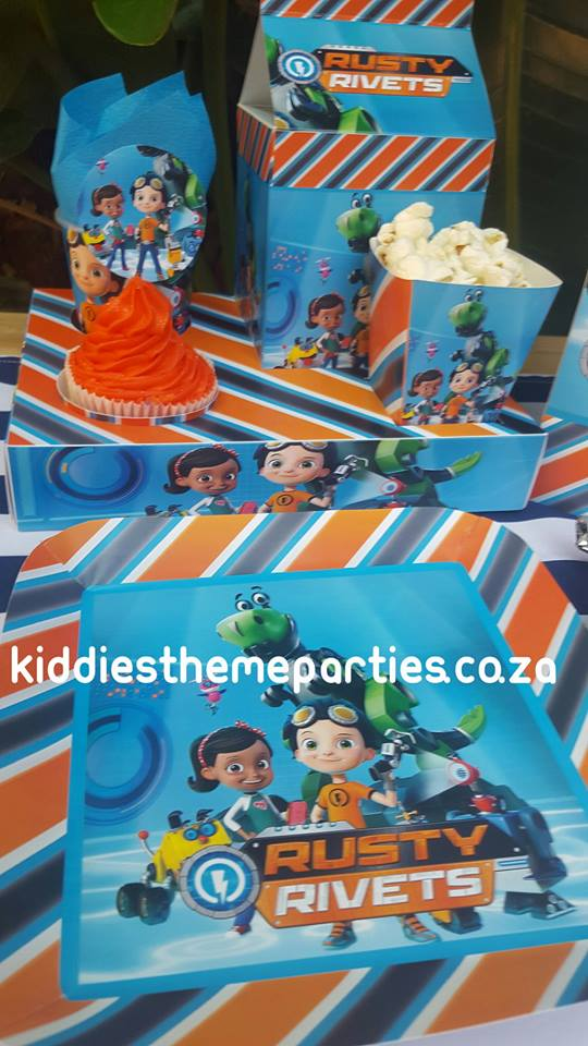 Rusty Rivets party decor