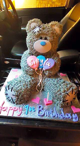 Tatty Teddy party decor for a first birthday party