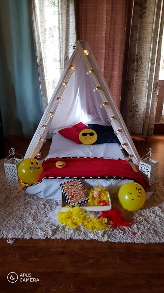 how to make a teepee for a sleepover