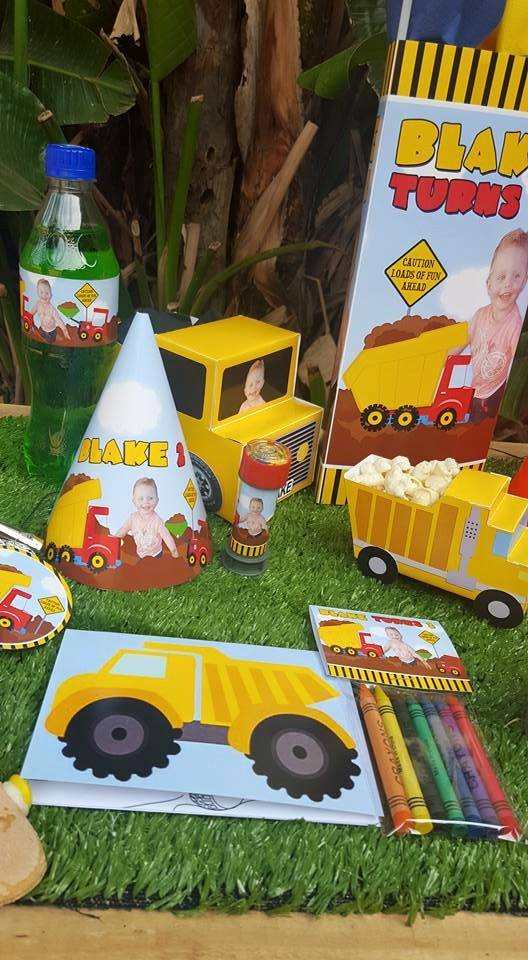 Construction Truck themed party supplies